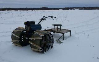 Снегоход из мотоблока: как сделать своими руками