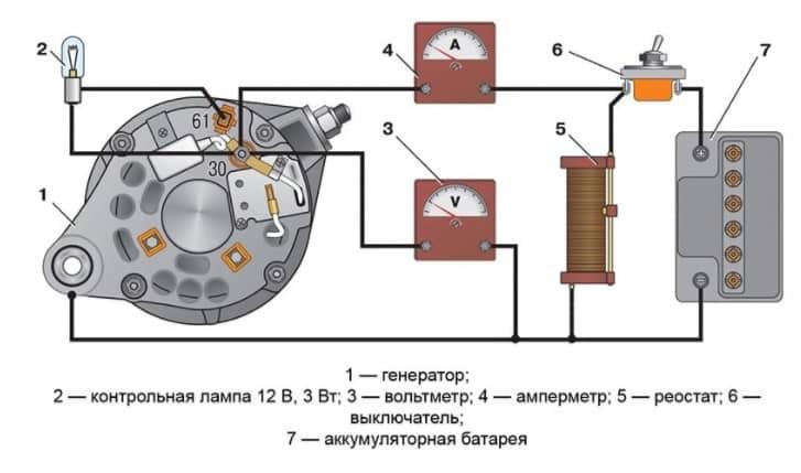 Электрическая схема подключения генератора на мотоблок