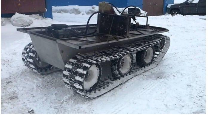 Гусеничный снегоход на базе мотоблока