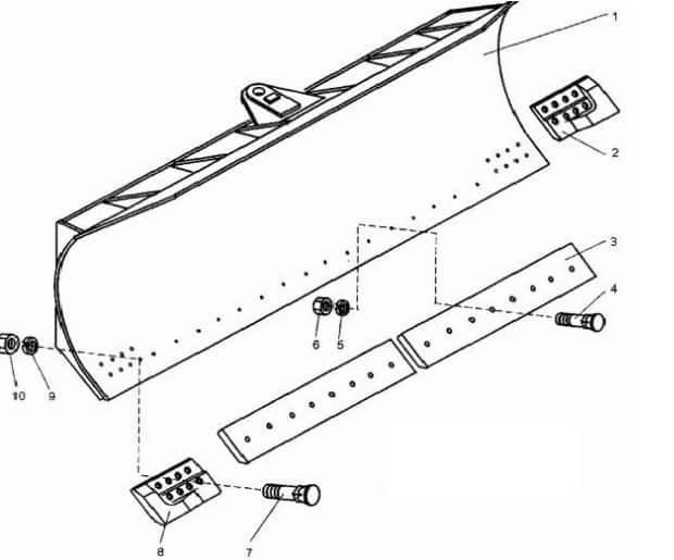 Изготовление отвала из бочки: схема