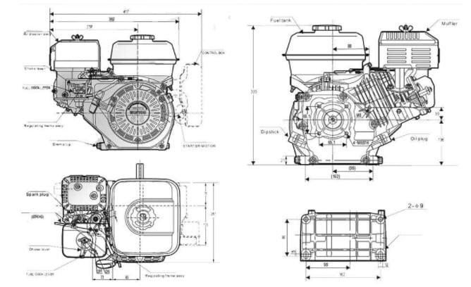 Мотор Lifan 168F-2B: особенности конструкции