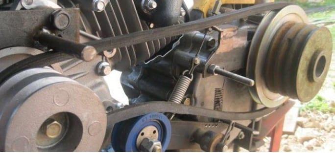 Шкив на двигатель мотоблока