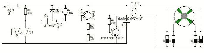 Схема бесконтактного зажигания мотоблока