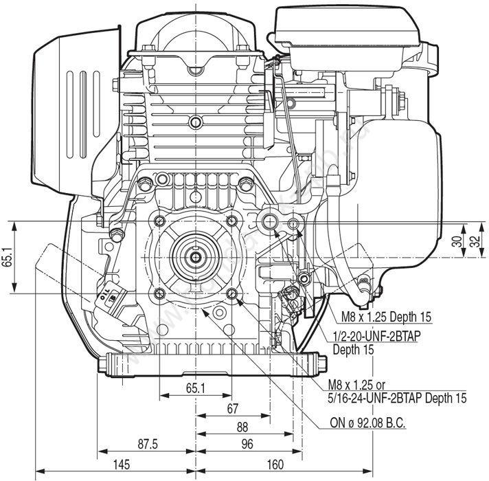 Двигатель Хонда GC 190 к мотоблоку Салют