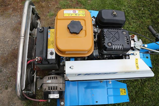 Как на мотоблок поставить генератор?