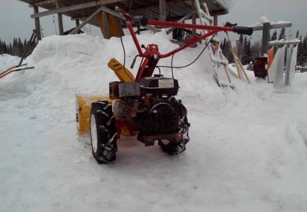 Эксплуатация мотоблока зимой