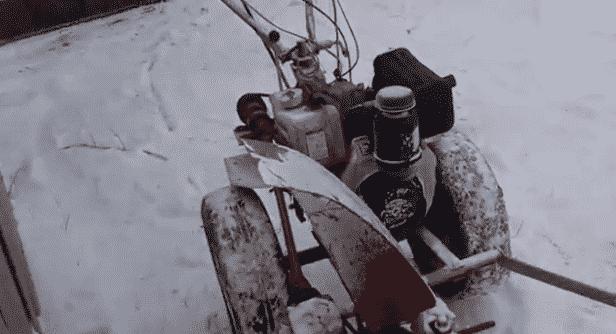 Снегоуборщик из газового баллона