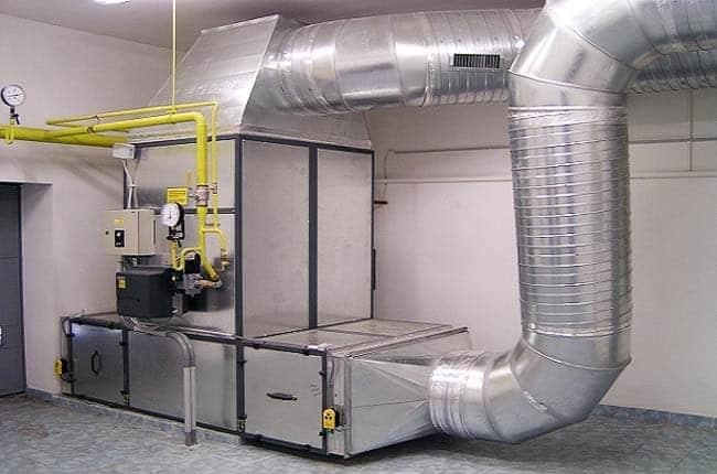 Промышленное воздушное отопление